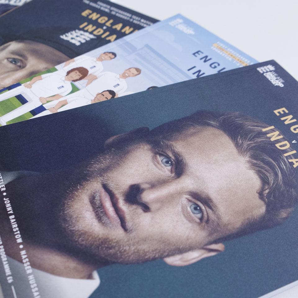 England cricket programmes