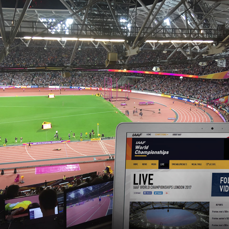 Live reporting for the IAAF