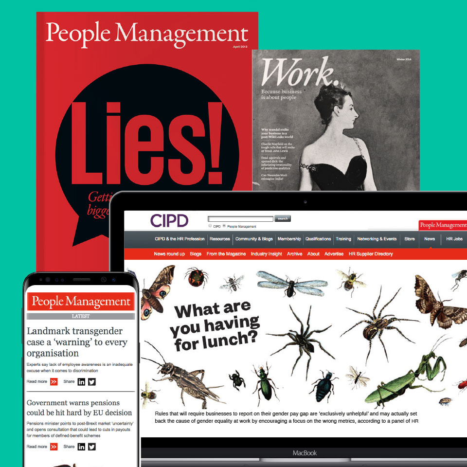 People Management, Work, CIPD in print and digital